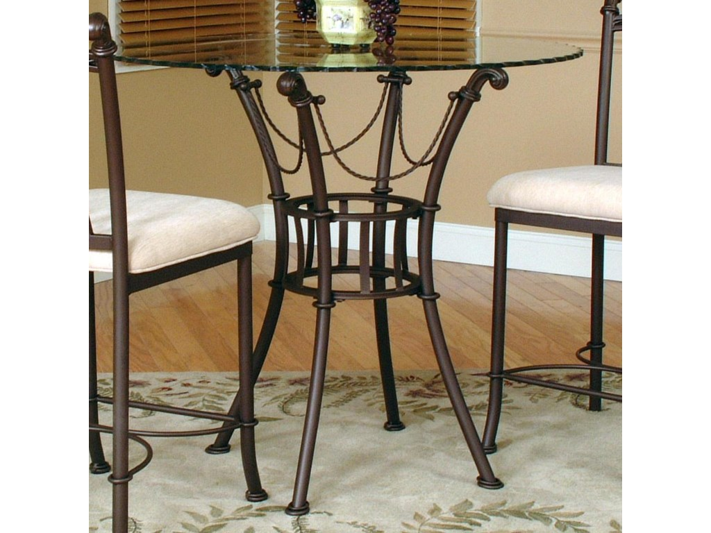 Cramco, Inc Denali3 Piece Counter Height Glass Table and Chair