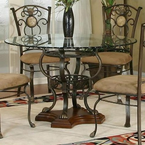 Cramco Inc Design Line Allegro Dining Table With Gl Top