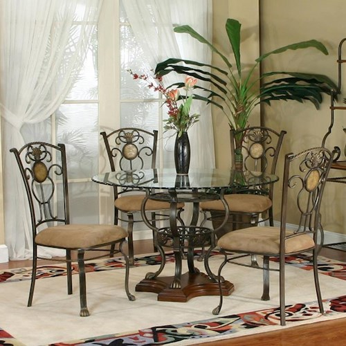 Cramco Inc Design Line Allegro 5 Piece Dining Set