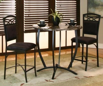 Cramco Inc Electra 3 Piece Counter Table And Stool Set