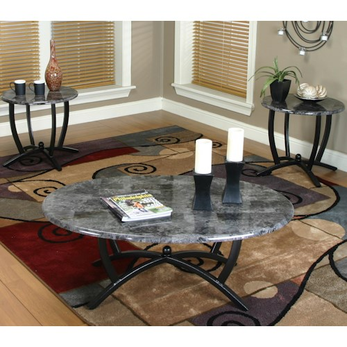 Cramco, Inc Electra 3 Pack Occasional Set w/ Faux Marble Tops