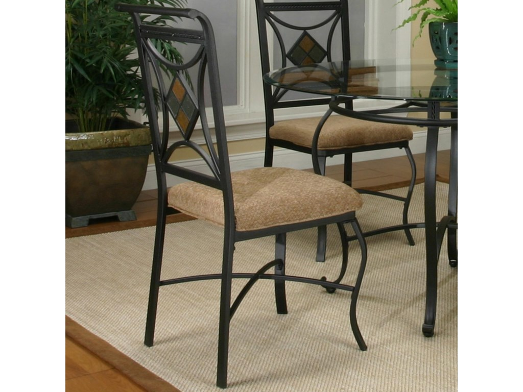 Cramco, Inc Cramco Trading Company - Glendale Espresso/Diamond Wheaten Side Chair