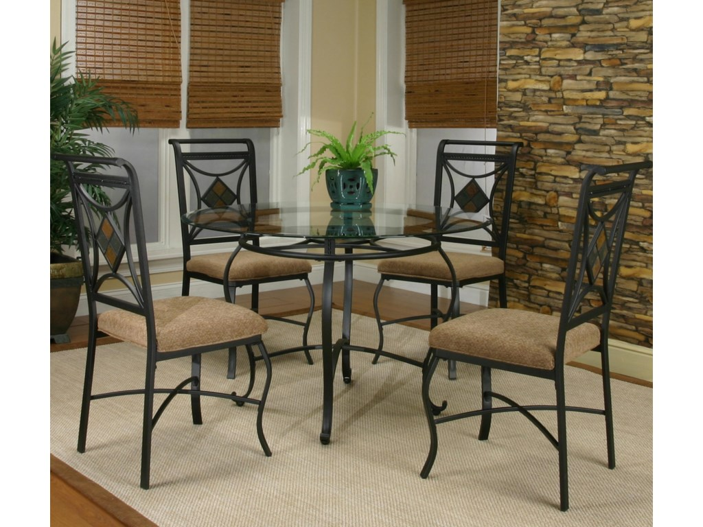 Round Table Shown with Side Chairs