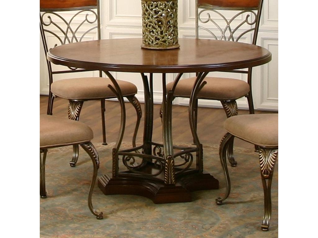 Cramco, Inc HarlowRound Metal/Wood Table