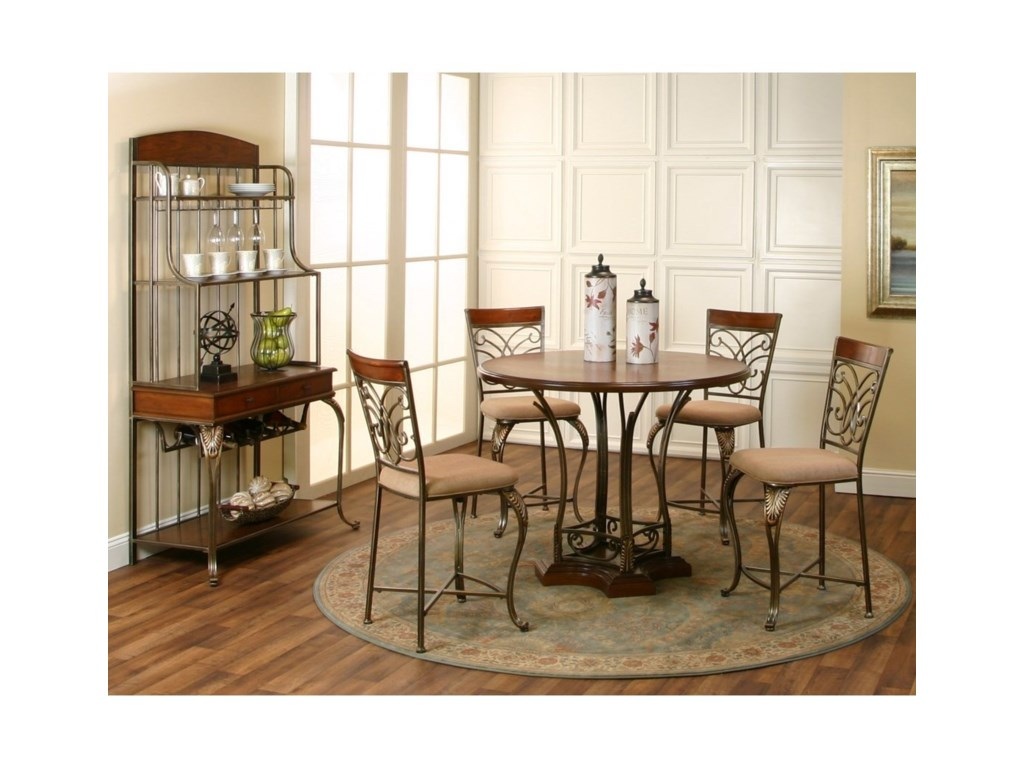 Cramco, Inc Harlow5 Piece Counter Height Dining Set
