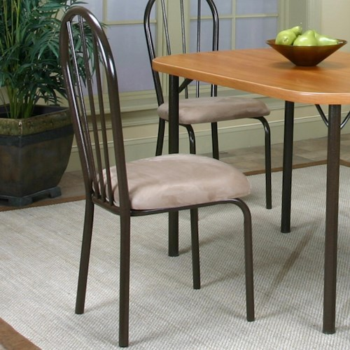 Cramco, Inc Cramco Dinettes - Heath Side Chair w/ Microsuede Seat