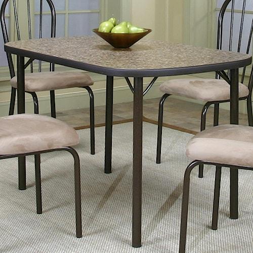 Cramco, Inc Cramco Dinettes - Heath Granite Laminate Top Table