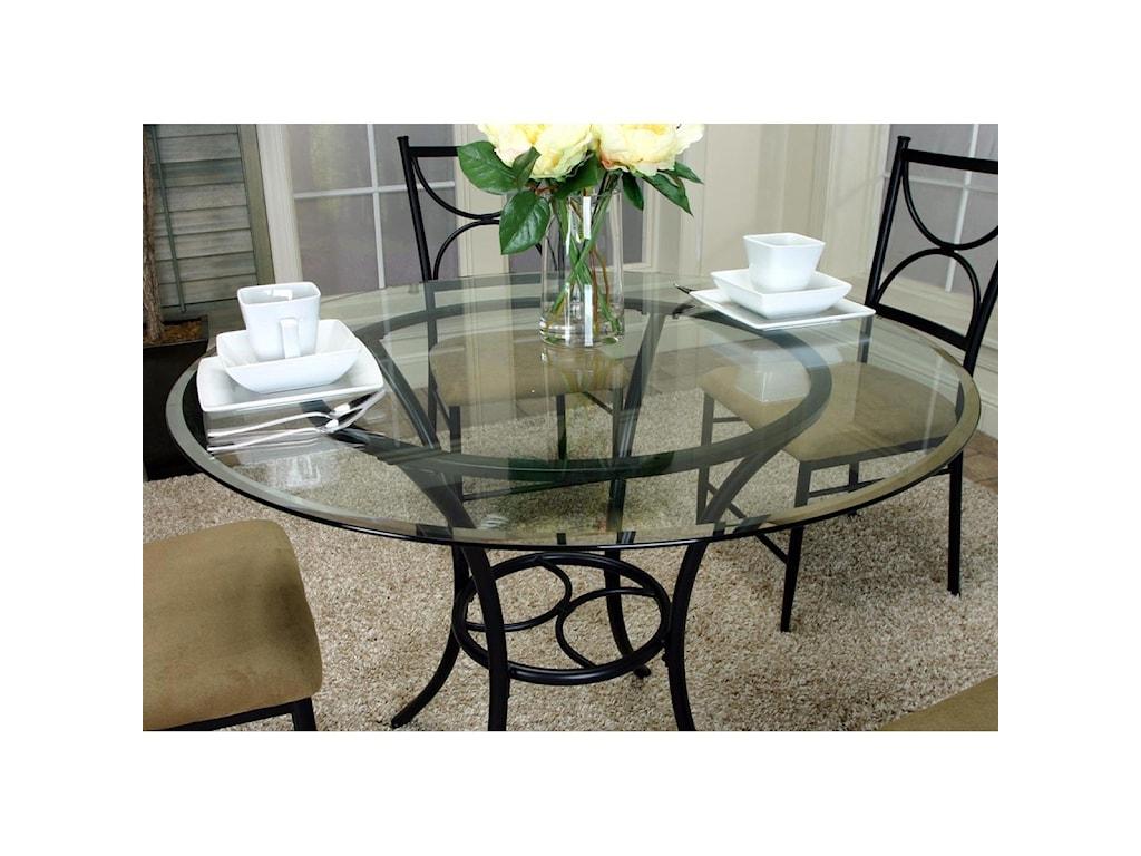 Cramco, Inc Hudson5-Piece Round Glass Top Table Set