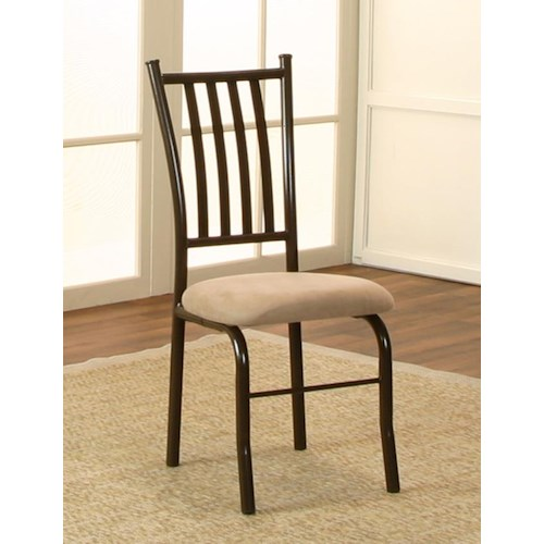 Cramco, Inc Jacey Java/Cappucino Microsuede Side Chair
