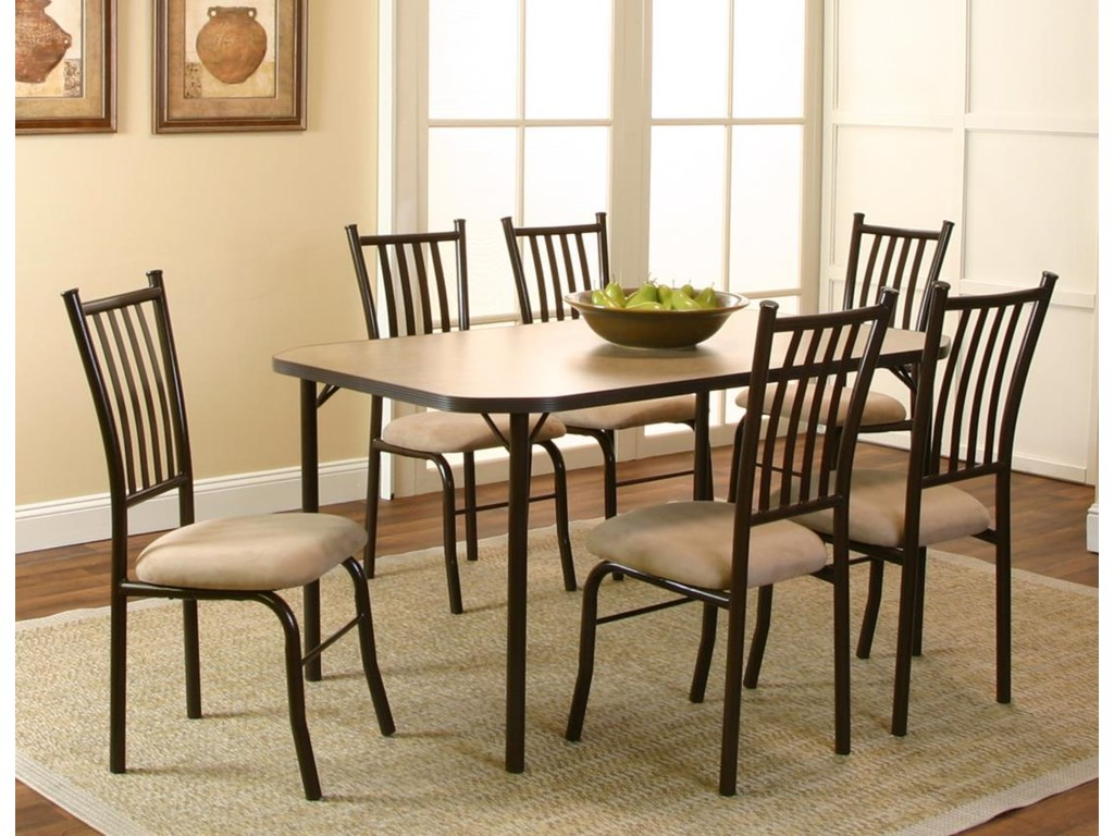 Cramco, Inc Jacey7 Piece Table and Chairs Set