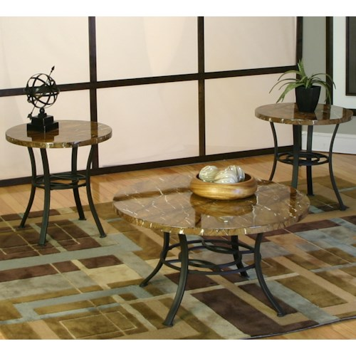 Cramco, Inc Kaden 3 Pack Texture Occasional Tables
