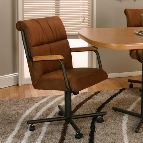 Cramco, Inc Landon Dining Arm Chair With Casters