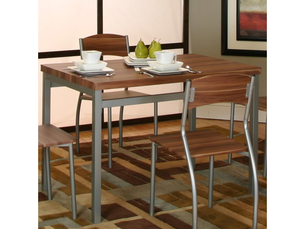 Cramco, Inc LarkPlatinum/Acacia Veneer Table