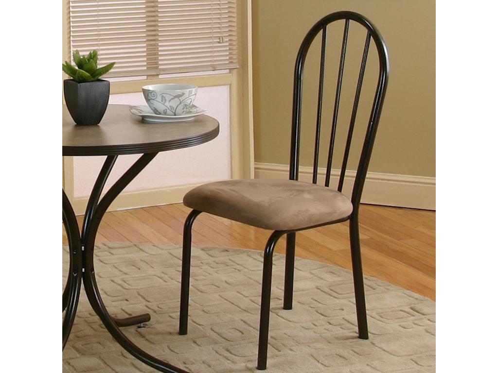 Cramco, Inc LinenJava/Cappacino Microsuede Side Chair