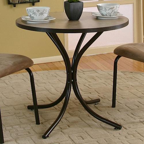 Cramco, Inc Linen Round Beige Linen Laminate Top Table