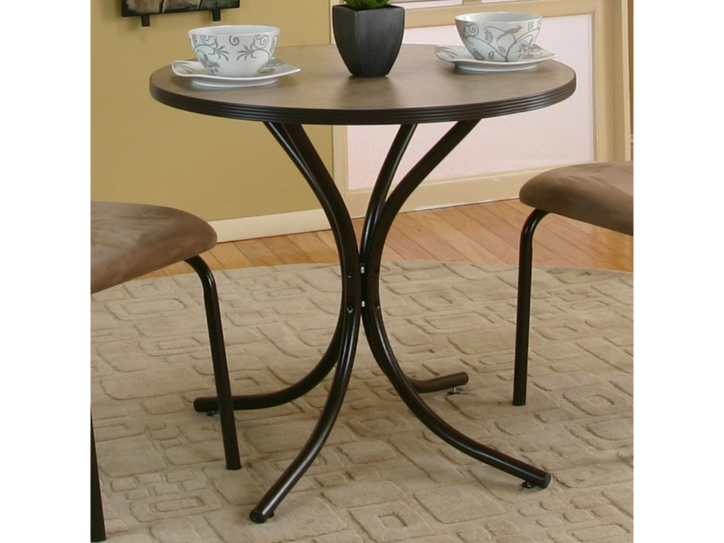 Cramco, Inc LinenRound Beige Laminate Top Table