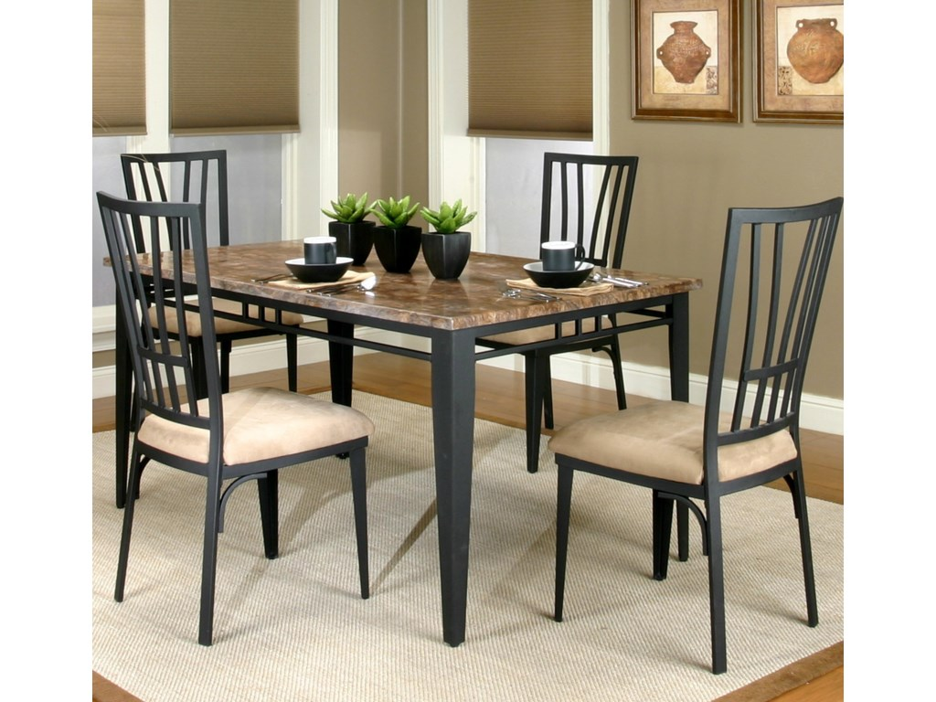Side Chair Shown with Rectangular Table