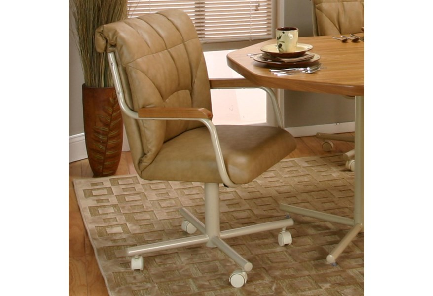 Cramco Inc Cramco Motion Marlin Tilt Swivel Dining Chair With Casters Value City Furniture Dining Chair With Casters