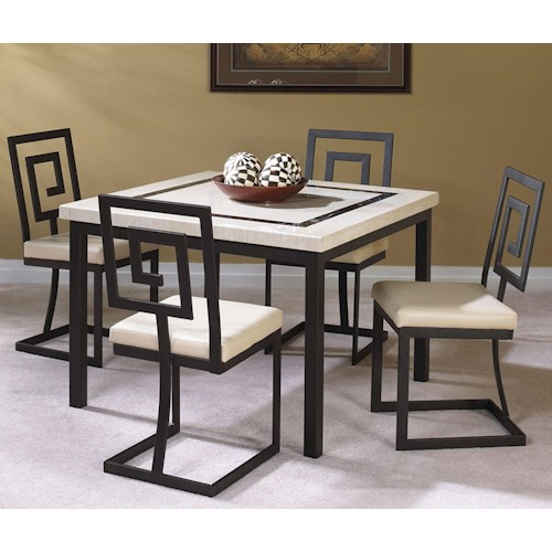 Cramco, Inc Maze 5 Piece Square Table and Side Chair Set