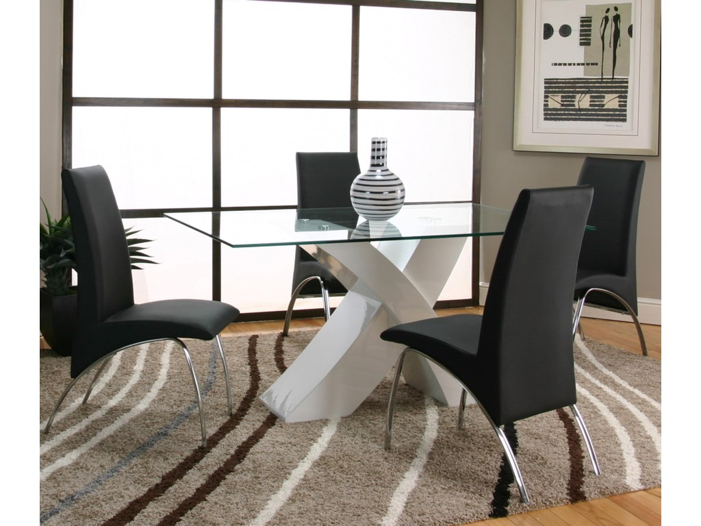 Cramco, Inc MensaBlack Side Chair