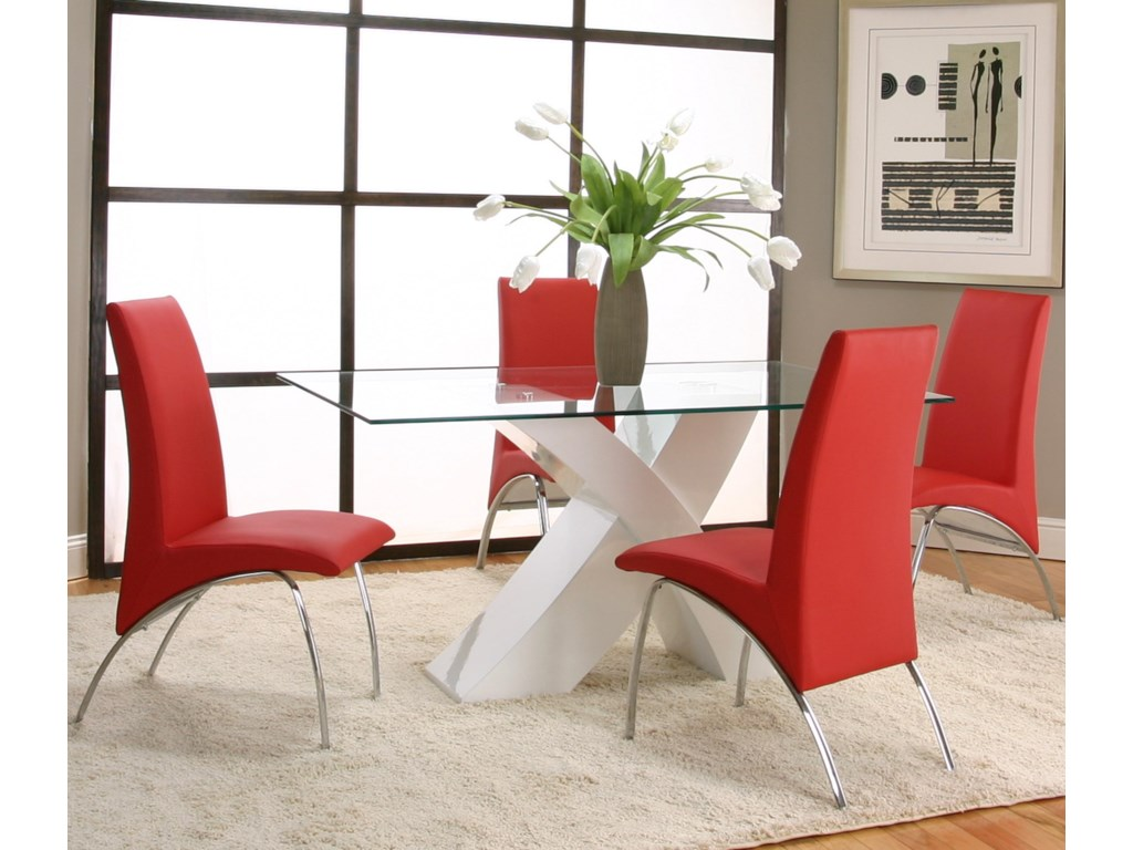 Shown with Red Side Chairs
