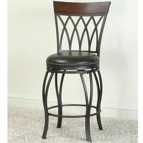 Cramco, Inc Monza Swivel Counter Stool with Diamond Designs