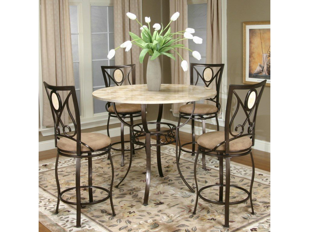 Shown with Swivel Stools