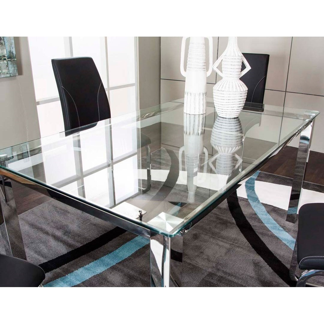 Cramco, Inc SkylineGlass Top Dining Table ...