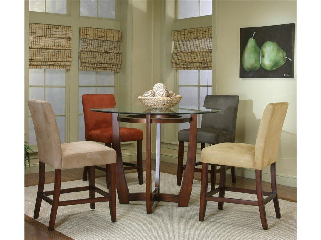 Cramco, Inc Contemporary Design - ParkwoodCounter Height Dining Table and Chair Set