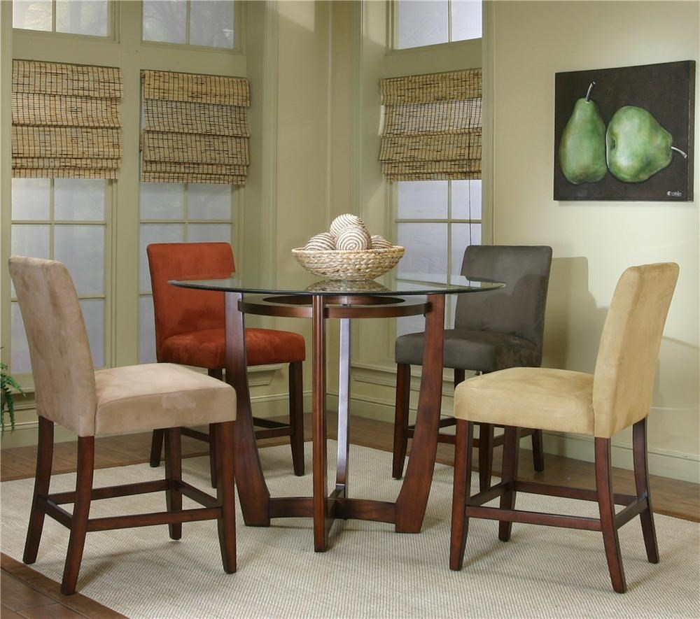 Great Cramco, Inc Contemporary Design   Parkwood Round Counter Height Dining Table  With Micro Suede