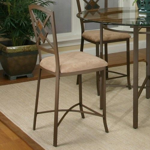 Cramco, Inc Cramco Trading Company - Piazza  Counter Stool w/ Upholstered Seat