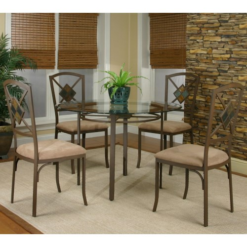 Cramco, Inc Cramco Trading Company - Piazza  Round Table w/ 4 Side Chairs