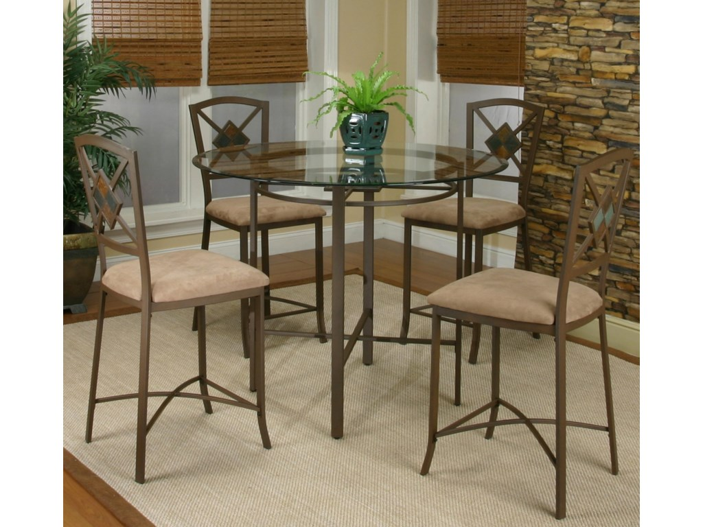 Cramco, Inc Cramco Trading Company - Piazza Counter Height Table and Stool Set