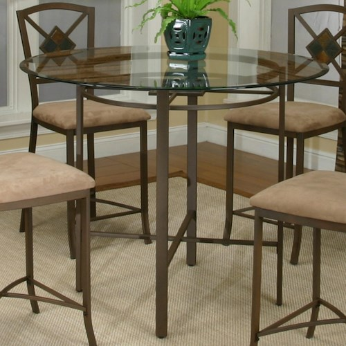 Cramco, Inc Cramco Trading Company - Piazza  Metal Pub Table w/ Glass Top