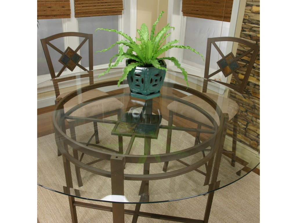 Glass Table Top with Stone Slate