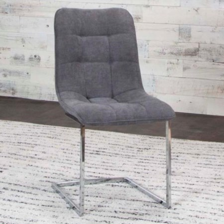 Graphite/Chrome Side Chair (Welded)