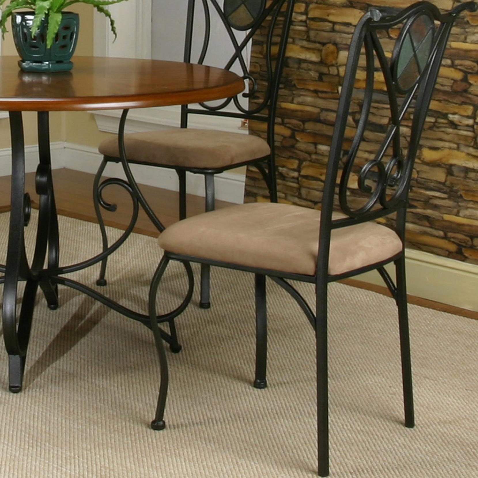 Cramco, Inc Cramco Trading Company   RavineEspresso/Stone Microsuede Side  Chair ...