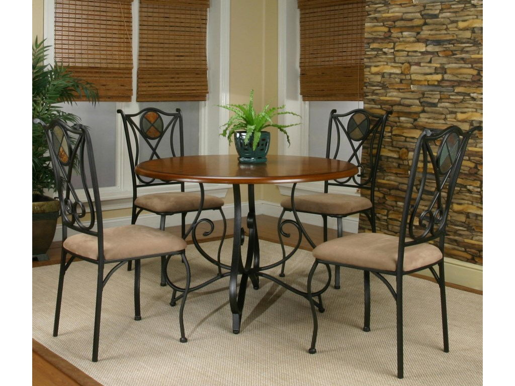 Cramco, Inc Cramco Trading Company - RavineFive Piece Round Table and Chair Set