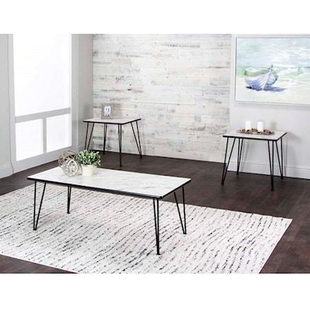3-Piece Cloud Laminate Occasional Table Set