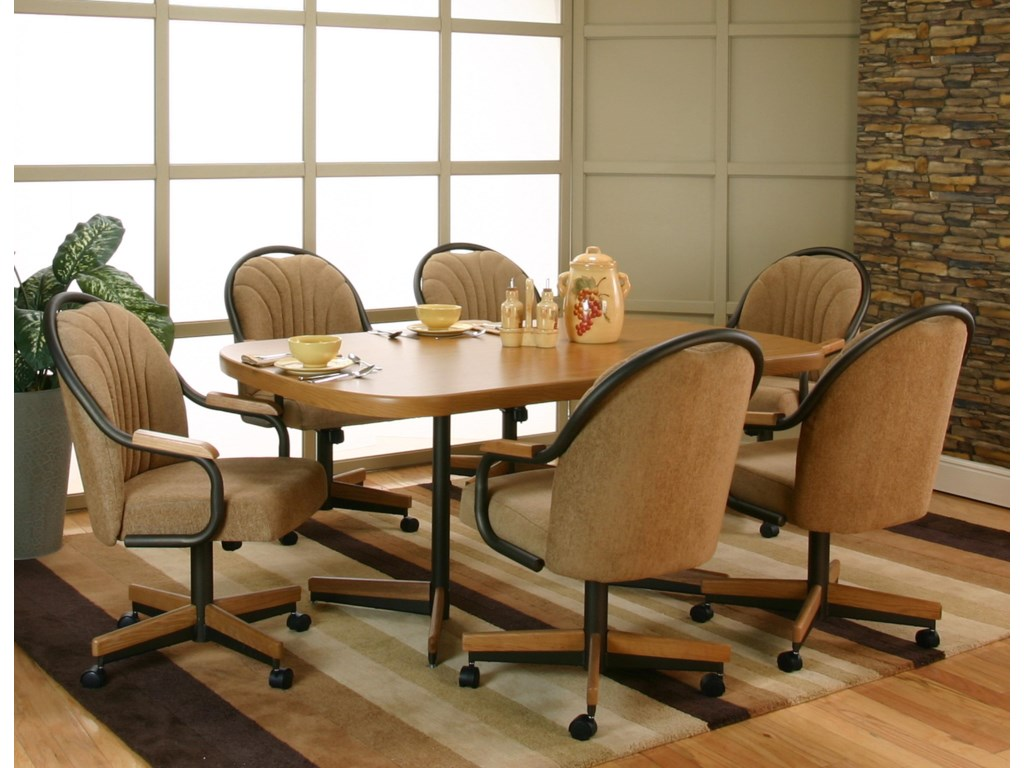 Cramco Inc ShawDining Table 6 Arm Chairs