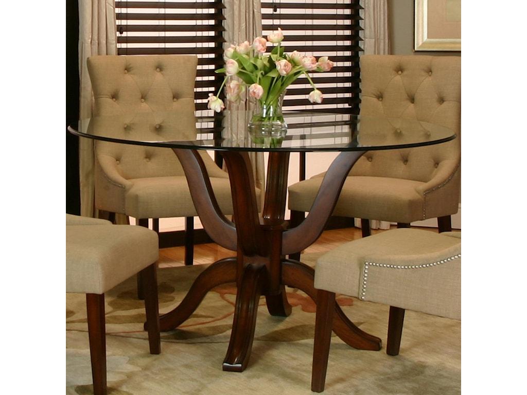 Sonnet Round Single Pedestal Table