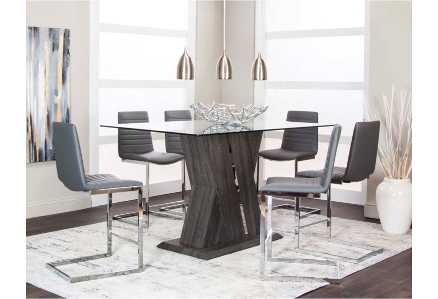 Liberty Furniture Armand 7 Piece Trestle Table Set Zak S Home Dining 7 Or More Piece Sets