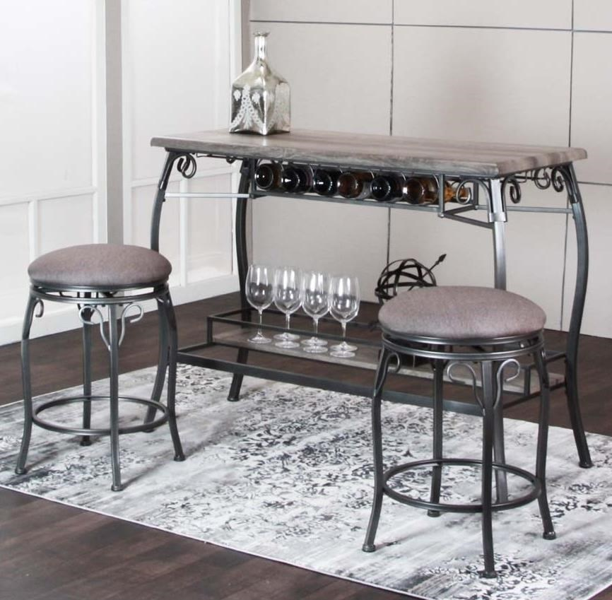 Picture of: Cramco Inc Sprite Y2684 75 3 Piece Counter Height Bar Table And Stool Set Sam Levitz Furniture Pub Table And Stool Sets