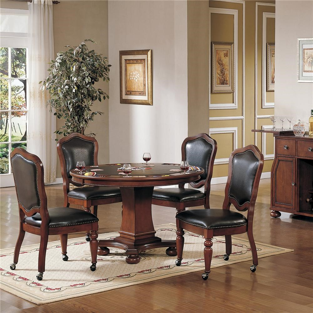 Cramco, Inc Timber Lane   Faran Round Game Table And Caster Chair Set