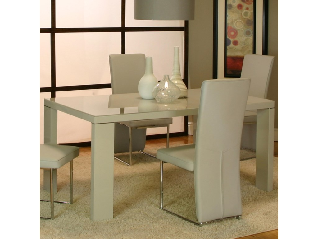 Cramco, Inc Venice Rectangular Dinner Table w/ Tempered Gl Top ... on havertys furniture kitchen sets, diamond furniture kitchen sets, value city furniture kitchen sets, macy's kitchen sets, regency furniture kitchen sets,