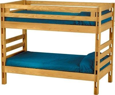 Crate Designs Crate Designs - Bedroom Twin/Twin Bunkbed w/ Ladder Sides