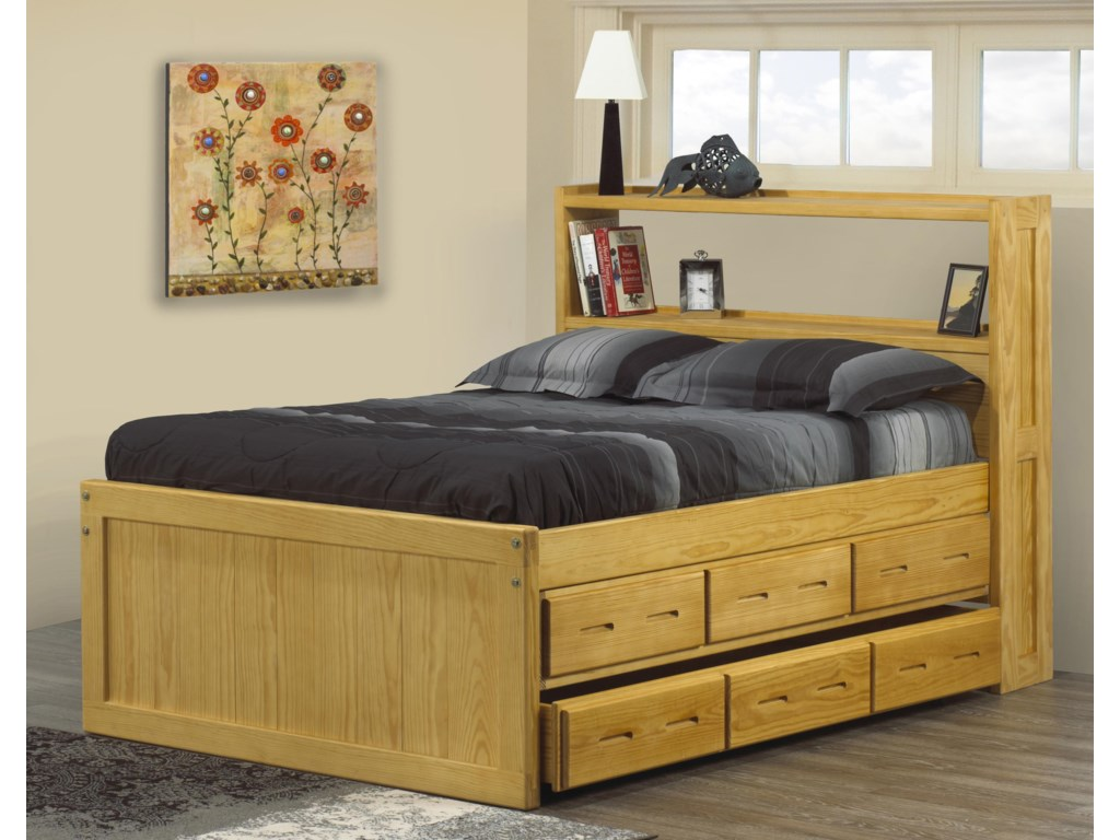 Crate Designs Crate Designs - BedroomTwin Captain's Bookcase Bed