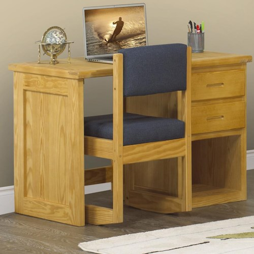 Crate Designs Crate Designs - Bedroom Student Single Pedestal Desk