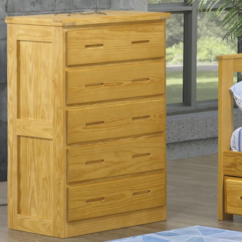 Crate Designs Crate Designs - Bedroom Chest w/ 5 Drawers