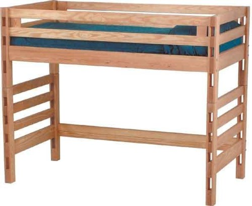 Crate Designs Pine Bedroom Casual Twin Loft Bed